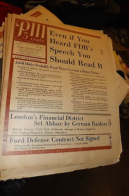Vintage WW II DEC 30, 1940 32 pg PM NY Daily Magazine V1 No 139