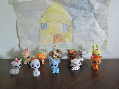 Lot of 11  Vintage Mannix Pet Figure Cats, Dogs & MGA Bobble Head Pets