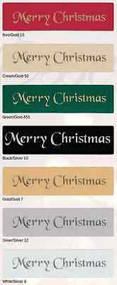 Merry Christmas Ribbon Foil Print by Berisfords widths 10mm and 25mm 8 Colours