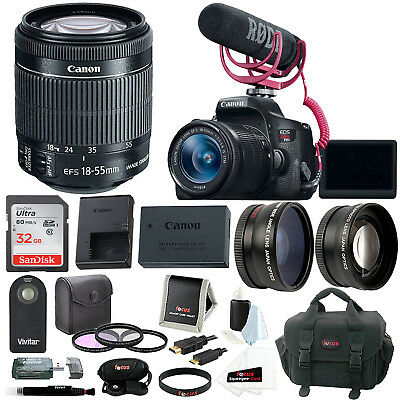 Canon EOS Rebel T6i DSLR Camera with 18-55mm Lens Video Creator Kit & Accessory