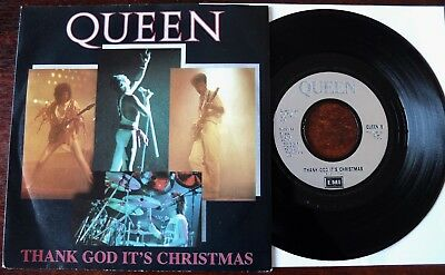 "Queen Thank God It's Christmas 7"" Emi (1984) Nr Mint- Sounds Great Uk Queen 5"