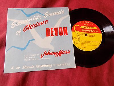 "SPOKEN WORD: JOHNNY MORRIS Glorious Devon 7"" EP TORBAY POP EASY"