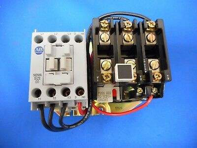 Allen-Bradley 509-Tod Full Voltage Starter 3 Phase Size 00 Open