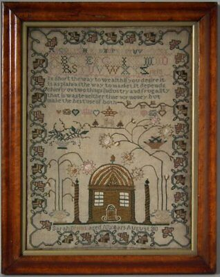 Antique Sampler, 1813, by Sarah Brunt