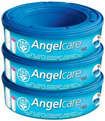 Angelcare Nappy Disposal System Refill Cassettes - Pack of 3, Easy To Use
