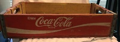 Antique Wooden Red  Coca Cola Carring Crate