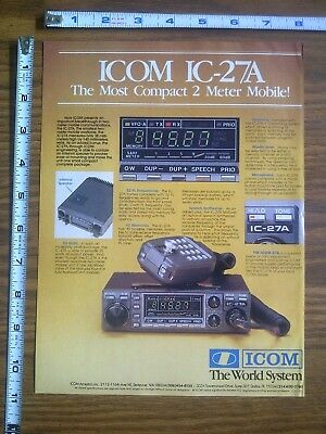 1983 ad page - ICOM IC-27A Radio Transceiver ADVERTISING #14