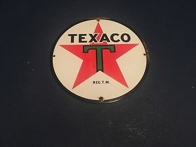 Texaco pump sign