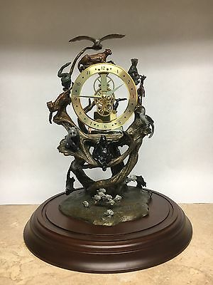 RARE -- Steven Lord - Guardians of the world bronze w/ clock. Mint condition.