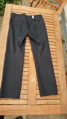 "Rapha smart black city cycling trousers. Soft Shell. Mens size W34"" x L32"""
