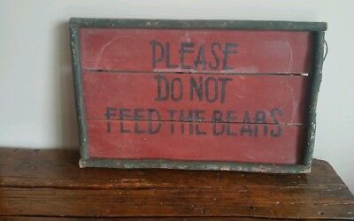 Old Rustic Primitive  Handmade Sign From Pa Cabin..30's Or 40's..aafa
