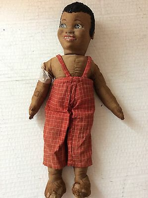 Norah Wellings stoff puppe seltener 1930's 23cm hoch