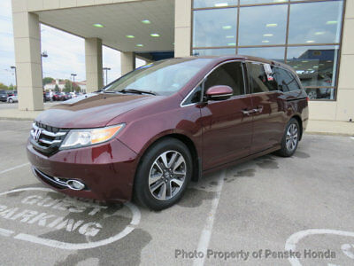 2015 Honda Odyssey 5dr Touring 5dr Touring 4 dr Van Automatic Gasoline V6 Cyl Dark Cherry Pearl