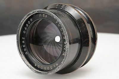 ":Goerz Dagor 9 1/2"" 240mm F6.8 Large Format Brass Barrel Lens"