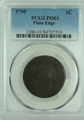 1795 Large Cent! Pcgs Po01! Plain Edge! Lowball! Us Coin Lot #6409