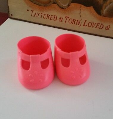 Very good my child doll hot PINK matching t bar shoes China ~ Rare colour htf
