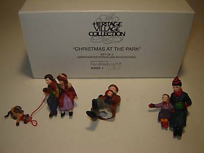 Dept 56 CIC Accessory  - Christmas At The Park - 3 Pc Set