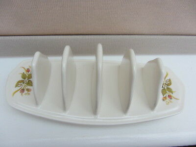 "1 x MELAMINE? TOAST RACK - ""HARVEST"" - COUNTRY - BRAMBLES - ROSE HIPS"