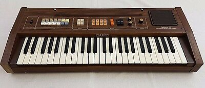 Casiotone 301 Vintage Electronic Keyboard Synthesizer CASIO Wood 1980s Rare 70s