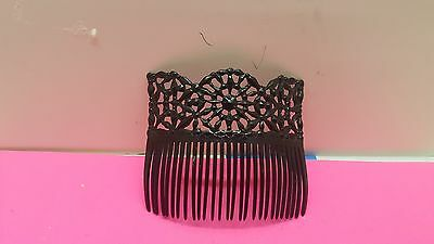 Antique Victorian Celluloid Plastic  Decorative Hair Comb 4.5X3.75