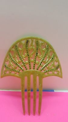 Antique Victorian Celluloid Plastic  Decorative Hair Comb 5.75X4.75
