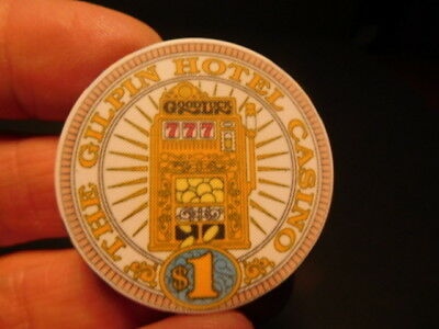 Original obsolete GILPIN HOTEL CASINO Blackhawk Colorado $1 Casino Chip
