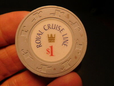 Original obsolete ROYAL CRUISE LINE $1 Casino Chip