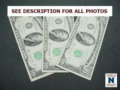 NobleSpirit NO RESERVE {RF} Lovely 3x 1950 US $10 Wide Notes w/ Star Note VF/XF