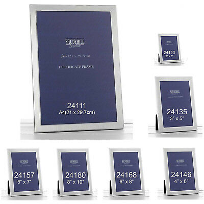 Shudenhill Plain Photo Picture Frame Satin Silver Home  Guest Friend Gift