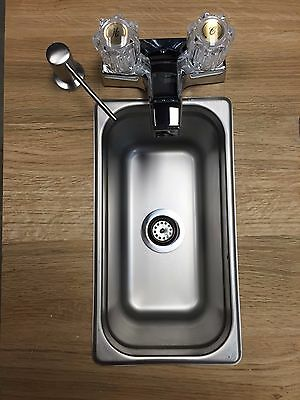 NEW Concession Sink Standard Hand Wash 1 Compartment Small SS Pump Food Trailer
