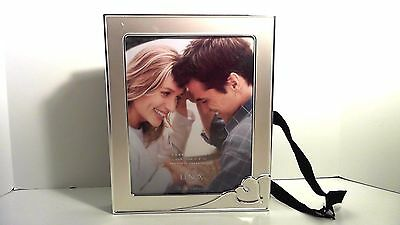 Lenox Forever More Silver Tone Picture Frame Album Heart Wedding Marriage Nib