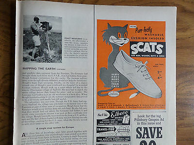 1958 Scats Canvas Tennis Shoes Ad