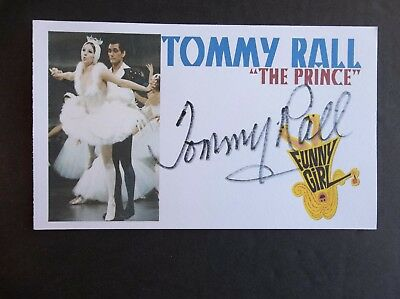 """""""Funny Girl"""" Tommy Rall Autographed 3x5 Index Card"""