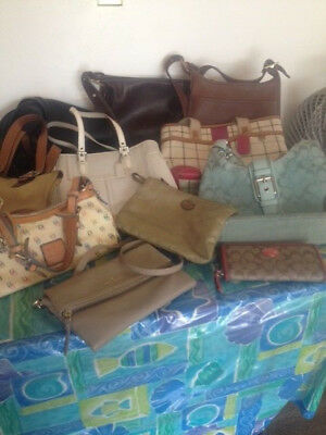 Lot of 12 Coach and other Designer Purses/Wallet