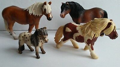 Lot of Four Collector's Schleich Horses Toy Figures Models