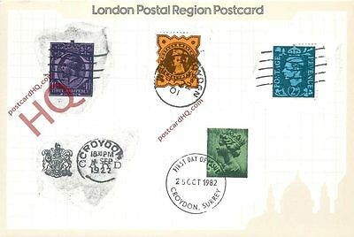 Picture Postcard- A Collection Of Croydon Postmarks