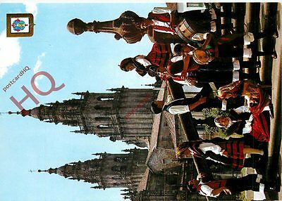 Picture Postcard- Galicia, Bagpipe Playing