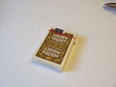 Very Rare Vintage Golden Nugget Casino Playing Cards Sealed Brown Deck Rare !!!
