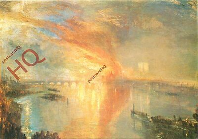 Picture Postcard- J.M.W. Turner, The Burning Of The Houses Of Lords And Commons