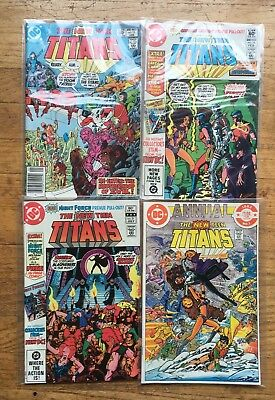New Teen Titans 1982 issues 15 16 21 Annual + Night Force & Captain Carrot NM!