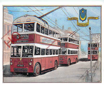 Picture Postcard: TROLLEYBUSES, PORTSMOUTH CORPORATION