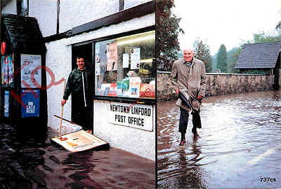 Picture Postcard::1987 Floods, Newtown Linford