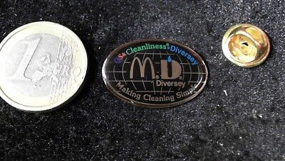 McDonalds Mc Donalds MCD Pin Badge Diversey making cleaning simple Partner