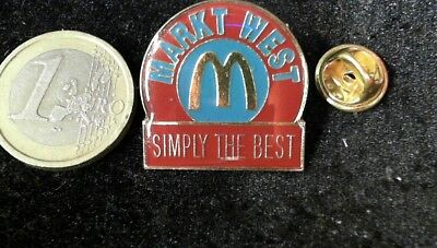 McDonalds Mc Donalds MCD Pin Badge Markt West simply the best