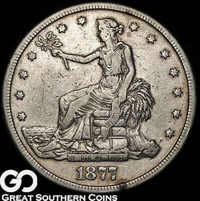 1877-S Trade Dollar, Well Sought After Silver Dollar!