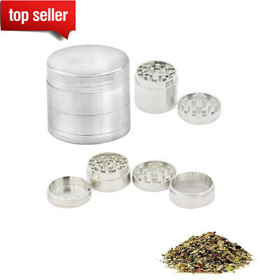 Tobacco 4 Pc Grinder Silver Herb/Spice/Weed/Alloy Smoke Herbal Chromium Crusher