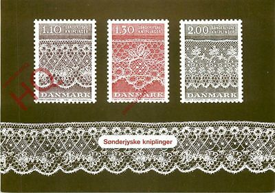 Picture Postcard:-Denmark, Postage Stamps
