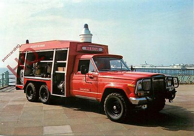 Picture Postcard:-EMERGENCY RESCUE TENDER, EAST SUSSEX FIRE BRIGADE