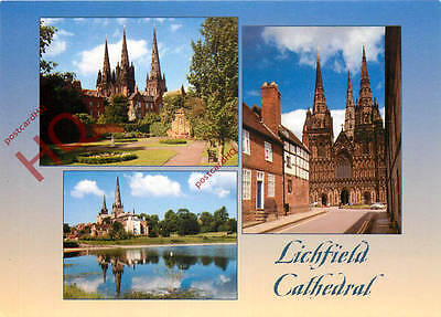 Picture Postcard-:Lichfield Cathedral (Multiview)