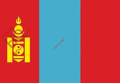 Picture Postcard-:Mongolia - Flag (HQ-F-MN)